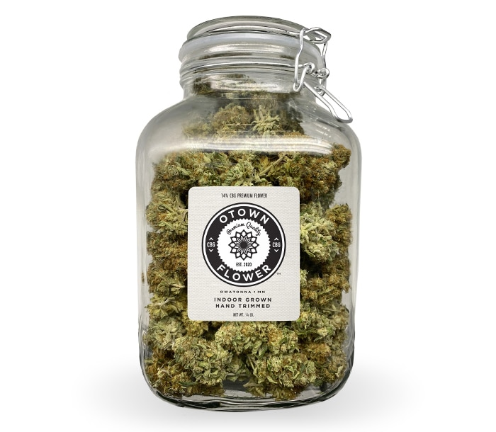 Large CBG Flower Jar