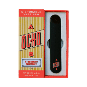 OCHO Delta 8 Vape Pen, Strawberry Shortcake